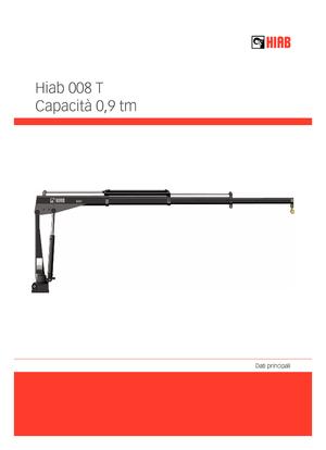 Гидравлические краны-манипуляторы Hiab 008 T-2 PTO