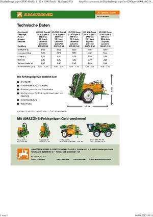 Навесной опрыскиватель Amazone UG 3000 Spezial (21)