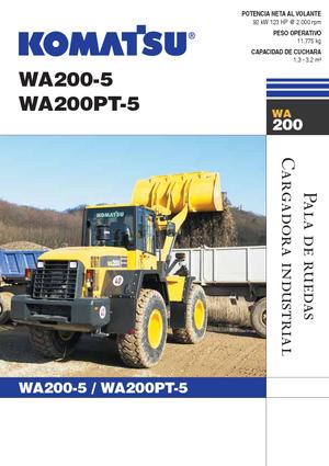 Колесные погрузчики Komatsu WA200-5