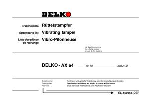 Вибротрамбовка с 4-тактным бензиновым двигателем Delko AX 64